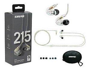 Fone de Ouvido Shure inear c/ microdriver SE215 Transparente