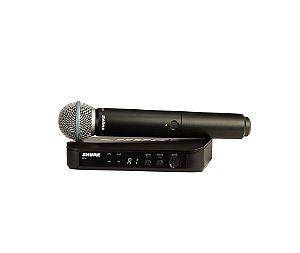 Microfone Sem Fio Shure Beta58 Original Blx24 Profissional