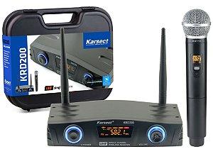 Microfone Karsect S/ Fio Krd200sm Single Transmissor De Mão