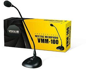 Microfone Vokal Vmm100 De Mesa Cor Preto