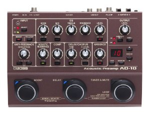 Pedal De Efeitos E Pré Amplificador Boss Para Violão Ad-10