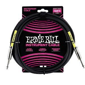 Cabo Ernie Ball P06048 10' 3,04m Preto Reto/reto