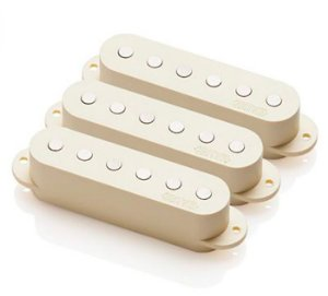 Set de Captadores EMG p/ Guitarra Single Strato Ativo Ivory