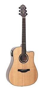 Violão Elétrico Crafter C/Tampo Sólido Hd800 Ce Nat Folk