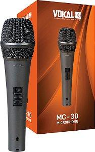 Microfone Vokal Mc30 COM FIO - PRETO