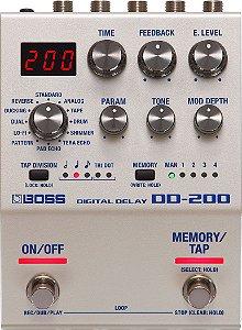 Pedal Boss para Guitarra Digital Delay DD-200