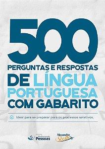 500 Perguntas de Língua portuguesa com gabarito