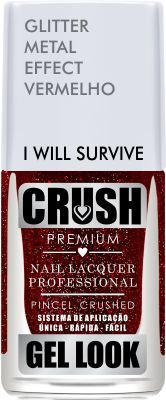 ESMALTE CRUSH - I WILL SURVIVE 9ml - GLITTER METAL