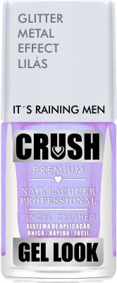 ESMALTE CRUSH - IT´S RAINING MEN 9ml - GLITTER METAL