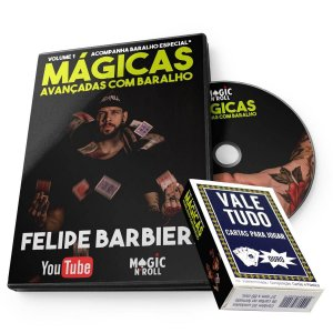 DVD Mágicas Avançadas com Baralho por Felipe Barbieri + Baralho VALE TUDO Especial