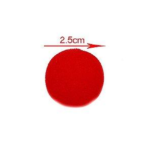 Mini Bolinhas de espuma Vermelha - par (2 unidades)