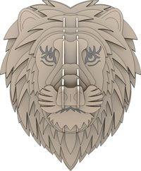 Cabeça de Leão - Puzzles 3D