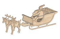 Papai Noel - treno - 3D