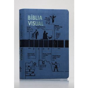 Bíblia Visual NTLH Letra Normal Capa Sintética capa Azul