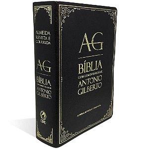 Bíblia com Comentários Antonio Gilberto Preta
