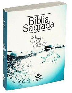 BÍBLIA SAGRADA EDIÇÃO COMPACTA COM FONTE DE BÊNÇÃOS