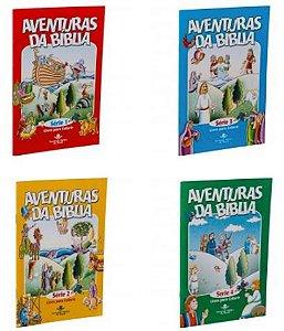 SÉRIE AVENTURAS DA BÍBLIA - 4 livrinhos para colorir