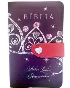 BÍBLIA MINHA LINDA PRINCESINHA CAPA FLEXÍVEL COM FECHO