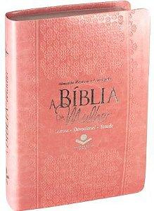 A BÍBLIA DA MULHER - Toda Rosa (Revista e Corrigida)