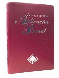BÍBLIA DE ESTUDO APLICAÇÃO PESSOAL MÉDIA BORDÔ