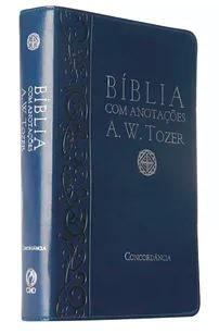 BÍBLIA A. W. TOZER MÉDIA LUXO COM ANOTAÇÕES - AZUL
