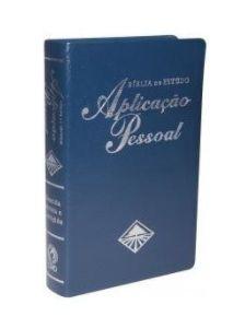 BÍBLIA DE ESTUDO APLICAÇÃO PESSOAL GRANDE - AZUL