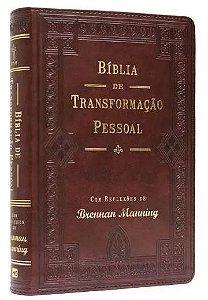 Bíblia de Transformação Pessoal - Luxo Marrom