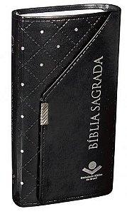 Bíblia Sagrada Carteira - Revista e Corrigida - Preta