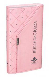 Bíblia Sagrada Carteira - Revista e Corrigida - Rosa