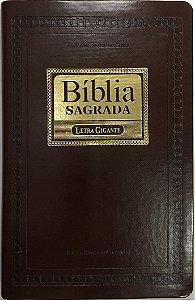 Bíblia Sagrada ICM - Letra GIGANTE - Revista e Corrigida - Capa Marrom