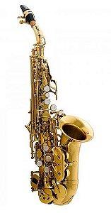 Saxofone Soprano Curvo Bb HCSSC-310GL Laqueado HARMONICS