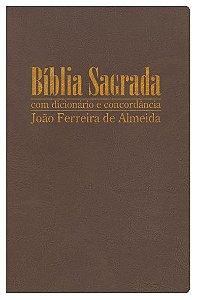 Bíblia Sagrada RC Gigante com Dicionário e Concordância - Capa Luxo Bronze
