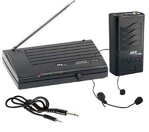 MICROFONE SEM FIO HEADSET VHF855, ALCANCE 50M EM ESPAÇO ABERTO