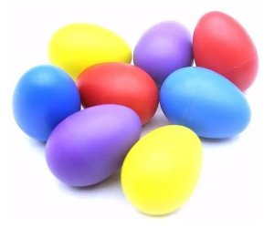 Ovinho Ganza Colorido Chocalho Egg (UN)