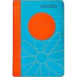 Livro - A Bíblia da Garota de Fé (Laranja e Azul)