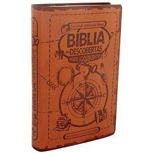 Bíblia Das Descobertas Para Adolescentes - Luxo Marrom