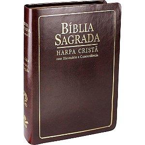 BÍBLIA COM HARPA, ÍNDICE, DICIONÁRIO E CONCORDÂNCIA - MARROM