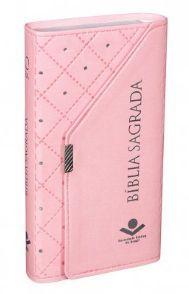Bíblia Sagrada ICM - Carteira  Revista e Corrigida - Rosa