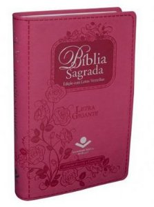 BÍBLIA SAGRADA ICM  LETRA GIGANTE - Capa Pink