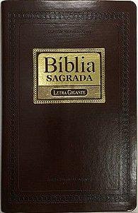 Bíblia Sagrada ICM - Letra GIGANTE  Revista e Corrigida - Capa Marrom