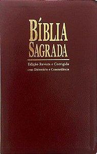 Bíblia Sagrada com Dicionário e Concordância ICM - Ed. Revista e Corrigida - Capa Vinho