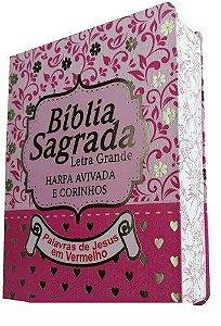 BÍBLIA COM HARPA - RC - PINK