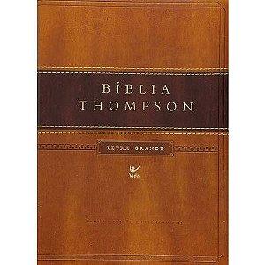 BÍBLIA THOMPSON - LETRA GRANDE CAPA LUXO MARROM