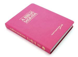 Bíblia ACF Letra Média Fina - Semi Luxo Rosa