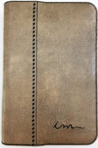 Capa de Bíblia ICM - Couro Ecológico - Cinza
