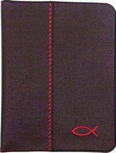 CAPA DE BÍBLIA - MARROM ESCURO DE PEIXINHO