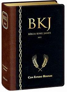 Bíblia de Estudo King James Fiel 1611- Marrom/Preto