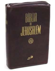 Bíblia Sagrada Jerusalém Capa Luxo Zíper
