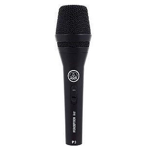 Microfone Dinâmico Com Fio Akg Perception P3s Preto