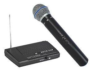 Microfone Sem Fio MS115 UHF de Mão TSI